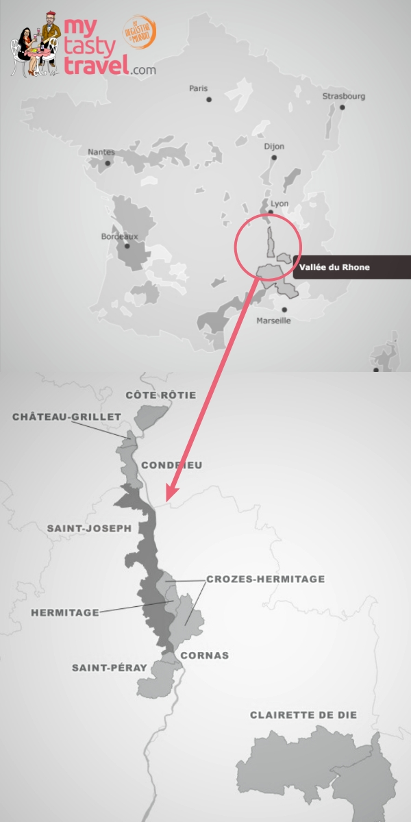 Carte Vin de la Vallée du Rhône - Saint-Joseph