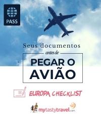 Documentos obrigatórios para Europa