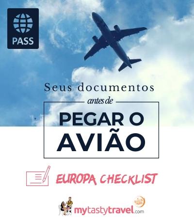 Documentos para viagem à Europa