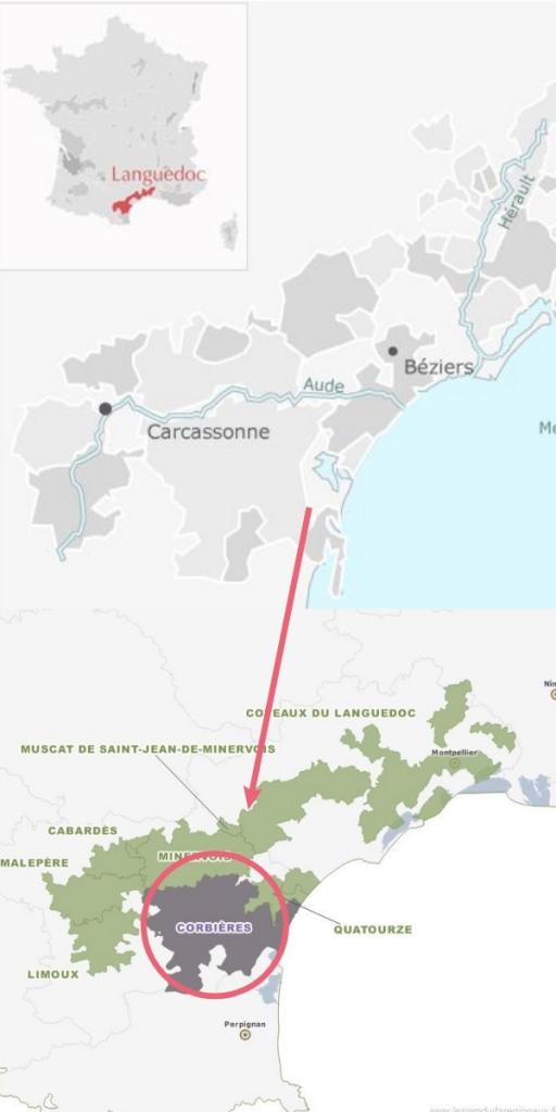 Carte Vignoble Corbières