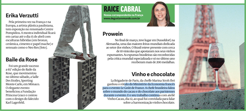 Prowein, vinho e chocolate, La Brigaderie