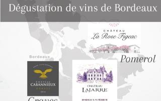 dégustation de visa de Bordeaux